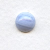 Blue Lace Agate Gemstone Cabochons 9mm Round