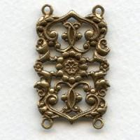 Bracelet Links Connectors 4 Loops Oxidized Brass (3)