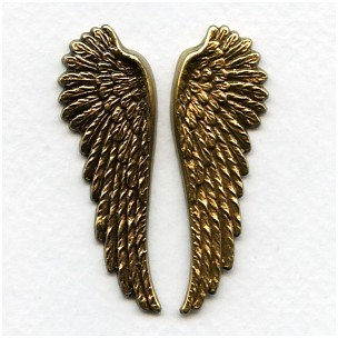 Spectacular Wings Oxidized Brass 52mm Tall (1 set)