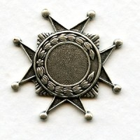 Medallion Crest 10mm Setting Oxidized Silver (3)