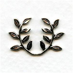Leaf Spray Embellishments Oxidized Silver (12)