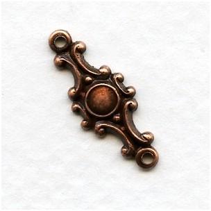 Ornate Connectors Oxidized Copper 20mm (12)