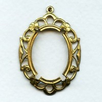 ^Openwork Floral Edge Setting 25x18mm Raw Brass (1)