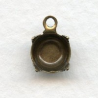 Round 7mm Settings Oxidized Brass (12)