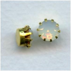 ^Tiffany Set Swarovski White Opal Raw Brass 35SS (6)