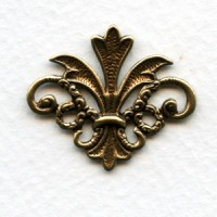 Finial Details Fleur-de-Lis Oxidized Brass 29mm (2)