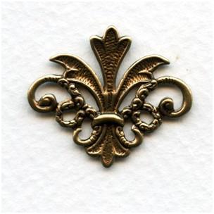 Finial Details Fleur-de-Lis Oxidized Brass 29mm (2)