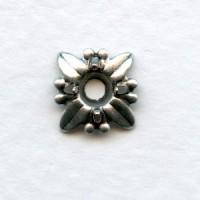 Starburst 4mm Settings Oxidized Silver (12)
