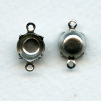 Round Setting Connectors 39ss Oxidized Silver (12)