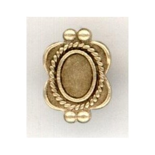 ^Ornate Details Solid Oxidized Brass Settings 6x4mm