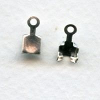 End Clamps for SS18 Rhinestone Chain Silver (12)