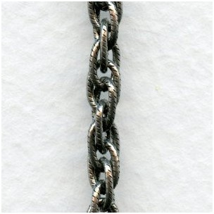 Rope Chain Sterling Silver Plated Brass (3 ft)