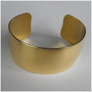 Smooth Raw Brass Flat Cuff 28mm (1)