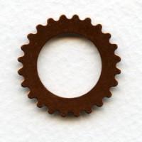 ^Steampunk Cogs Oxidized Copper 25mm
