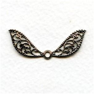 Fantasy Wings Oxidized Silver Filigree 41mm (6)