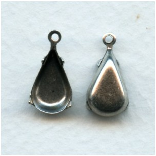 Pear Shape 13x8mm Settings Oxidized Silver (12)