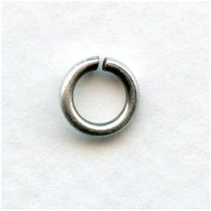 Heavy Duty Oxidized Silver Jump Rings 8mm (24)