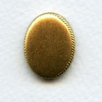 ^Crown Edge Settings 20x15mm Raw Brass (3)