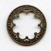 Floral Framework for 25mm Cabochons Oxidized Brass (6)