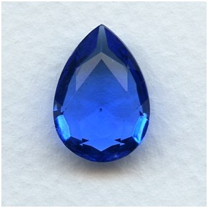 Sapphire Pear Shape Glass Jewelry Stone 18x13mm