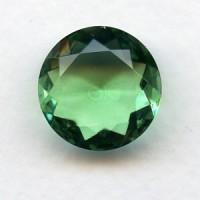Peridot Glass Round 18mm Unfoiled Jewelry Stone