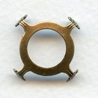 Open Back Turtle Style Settings 18mm Oxidized Brass (6)