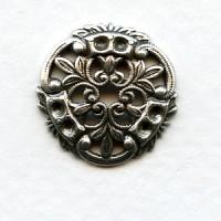 Crest Shape Oxidized Silver 18mm Earring Top