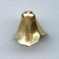 Textured Petal Flower 12mm Raw Brass (6)