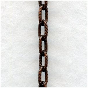 Dainty Cable Chain 4x2mm Links Oxidized Copper