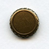 Crown Edge Settings 15mm Oxidized Brass (6)