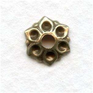Bead Caps Hold Rhinestones Oxidized Brass 8mm (12)