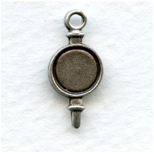 The Perfect 7mm Setting Drop Oxidized Silver