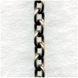 Itty Bitty Cable Chain Oxidized Silver 2mm Links (3 ft)