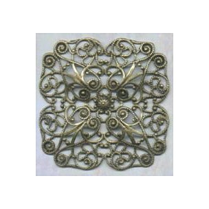 ^Ornate 51mm Filigree Oxidized Brass (1)