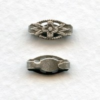 Fancy Snap Clasps Bails or Connectors Oxidized Silver