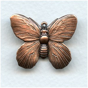 Butterfly Pendant Raised Wings Oxidized Copper (4)