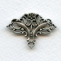 Ornate Embellishment Old World Solid Oxidized Silver (1)