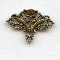 Ornate Embellishment Old World Solid Oxidized Brass^ (1)