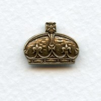 Elegant Crown Stampings Oxidized Brass (3)