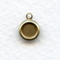 Perfectly Simple 5mm Setting Pendants Oxidized Brass (12)