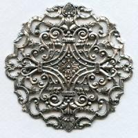 Gorgeous Round Filigree Oxidized Silver 83mm (1)