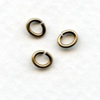 Small Oval Jump Rings 19G Oxidized Brass 5x4mm
