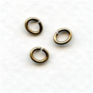 Small Oval Jump Rings 19G Oxidized Brass 5x4mm (100+)