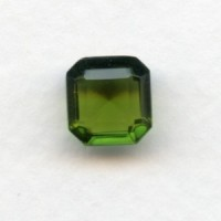 Olivine Bohemian Glass Square Octagon Stones 10x10mm