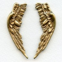 Large Wings with Hole Oxidized Brass 58mm (1 set)