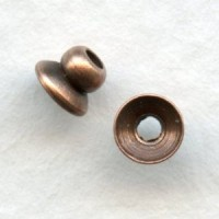 Bead Top Oxidized Copper Spacer Bead Caps 4mm (24)