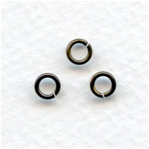 Round Jump Rings 5mm Oxidized Brass (100+)