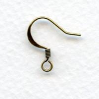 French Earwires Earring Findings Oxidized Brass (24)