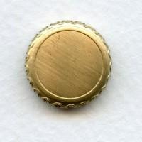 Crown Edge Settings 15mm Raw Brass (6)