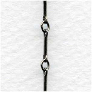 Link and Bar Chain Antique Silver (3 ft)